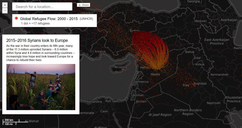 mappa interattiva migrazioni