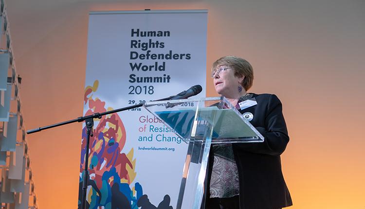 difensori dei diritti umani michelle bachelet,