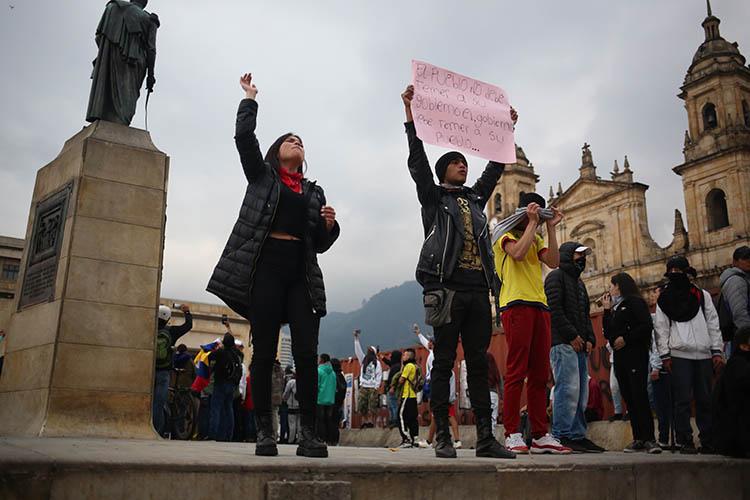 Durante una recente manifestazione a Bogotà, Copyright: Samuel Bregolin