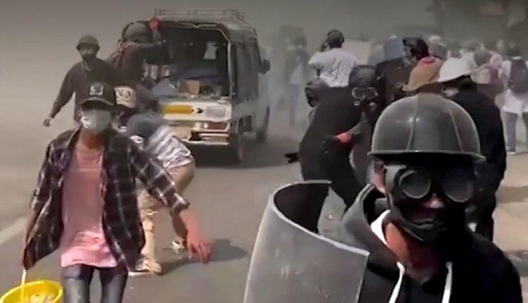 myanmar colpo di stato video